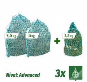 Pack 3 Sacos Slow Feeder nivel Advanced (7,5Kg + 5Kg + 2,5Kg)