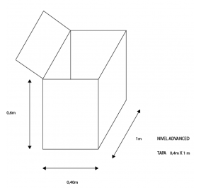 Cubre Bala nivel Advanced con tapa 1m Largo X 0,4m Ancho X 0,6m Alto