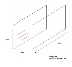 Cubre bala a medida nivel Pro (0,5m anchoX 0,6m largo X 1,25 alto) apertura 0,5mX 0,6m.