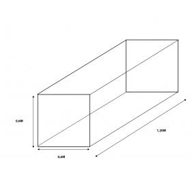 Cubre Bala a medida 0,6m ancho X 1,2m largo X 0,6m alto