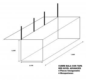 Cubre bala Nivel Advance 1,08M ancho X 0,55M largo X 0,38 alto con tapa