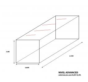 Cubre Bala Nivel Advaced a medida 0,8m ancho X 2,55m largo X 0,9m de altura