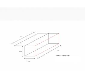 CUBREBALA NIVEL START ANCHO 0,45M X LARGO 1,20M X ALTO 0,55M + TAPA