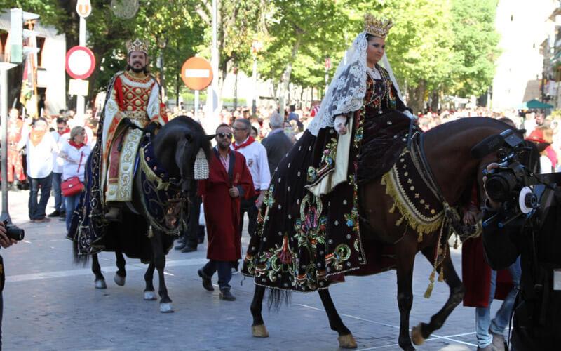 caballo del vino de caravaca moro y cristino