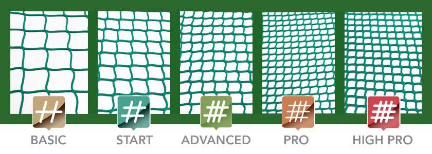 niveles de las redes para heno slow feeding de portoverde